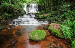 Man dang waterfall Royalty Free Stock Image