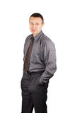Man in a dark shirt and dark trousers Royalty Free Stock Photo