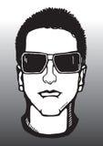 Man in dark sunglasses Stock Image