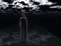 Man before the darkness Royalty Free Stock Image