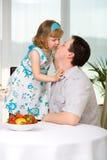 Man with daughter Stock Photos