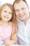 Man with daughter Royalty Free Stock Photography