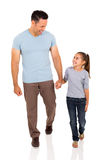 Man daughter walking royalty free stock image