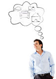 Man day dreaming Stock Photos