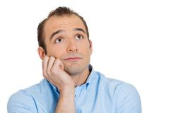 Man daydreaming Stock Image
