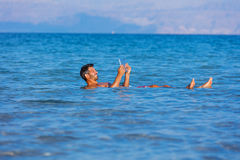 Man At The Dead Sea, Israel. Royalty Free Stock Photography