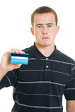 Man with a debit card Stock Photos