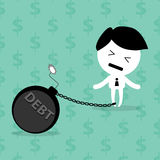 Man with debt bomb Stock Photo