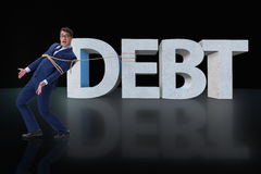 The man in debt business concept Royalty Free Stock Photography