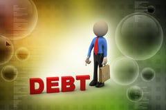 Man with debt Stock Photos