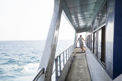 Man on a deck of a ship Royalty Free Stock Photos