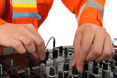 Man deejay closeup Royalty Free Stock Photos