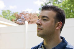 Man In Deep Thought Royalty Free Stock Photography