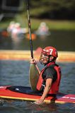 Man Defends The Canadian Goal In Canoe Polo Royalty Free Stock Photo