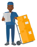 Man delivering boxes. Royalty Free Stock Photography