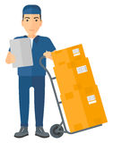 Man delivering boxes Stock Image