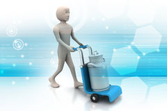 Man delivering can container for milk Royalty Free Stock Photo