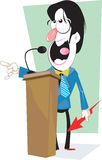 Man delivering lecture Stock Images