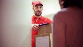 Man delivering parcel boxes to wrong customer