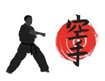 Man demonstrating karate. Stock Image