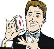 man den leka poker Royaltyfri Bild