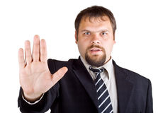 Man denies gesture Royalty Free Stock Photo