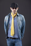 Man in denim clothes Royalty Free Stock Photo