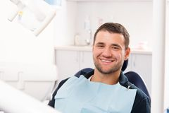 Man at dentist's surgery Stock Image