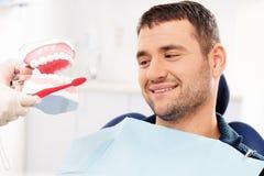 Man at dentist's surgery Royalty Free Stock Photo