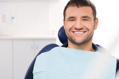 Man at dentist's surgery Stock Image