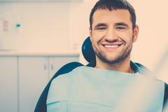 Man at dentist's surgery Royalty Free Stock Photography