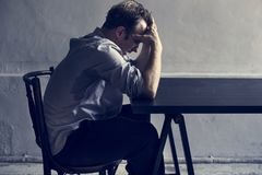 Man with depress feeling expression Royalty Free Stock Photos