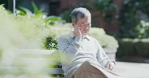 Man depressed and forget something stock images