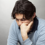Man with depression royalty free stock photography