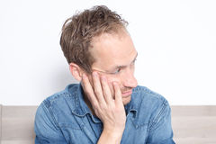 Man with depression Royalty Free Stock Image