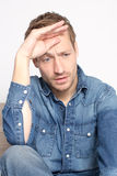 Man with depression stock photography