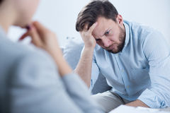 Man with depression Royalty Free Stock Photos