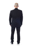 #Man in der Klage von hinten lizenzfreie stockfotografie