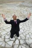 Man in desert Stock Image