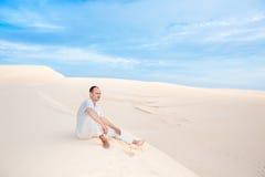 Man in desert Royalty Free Stock Image