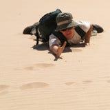 Man in desert Stock Photos