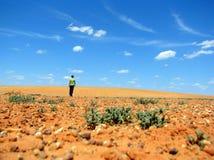 Man in the desert Stock Image