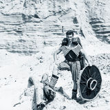 Man in desert Stock Photo