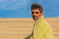Man in desert Royalty Free Stock Photo