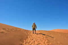 Man in desert Stock Photos