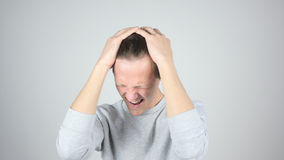 Man in Despair, Loser, Emotions After Failure by Young Man,  Gesture Stock Images