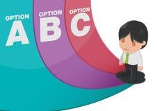 Man Determine Way Choice Presentation Vector. Man Determine Way Choice Presentation Royalty Free Stock Photo