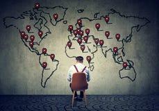 Man developing international business plan Stock Images