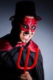Man in devil costume Stock Photos