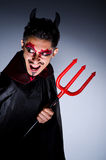 Man in devil costume Royalty Free Stock Photo
